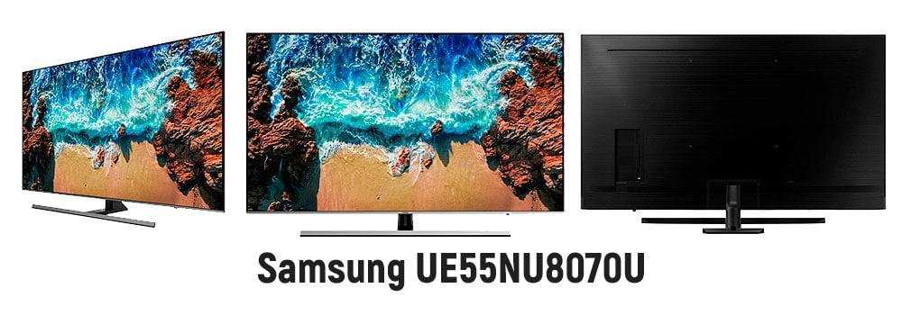 Безрамочный телевизор Samsung UE55NU8070U